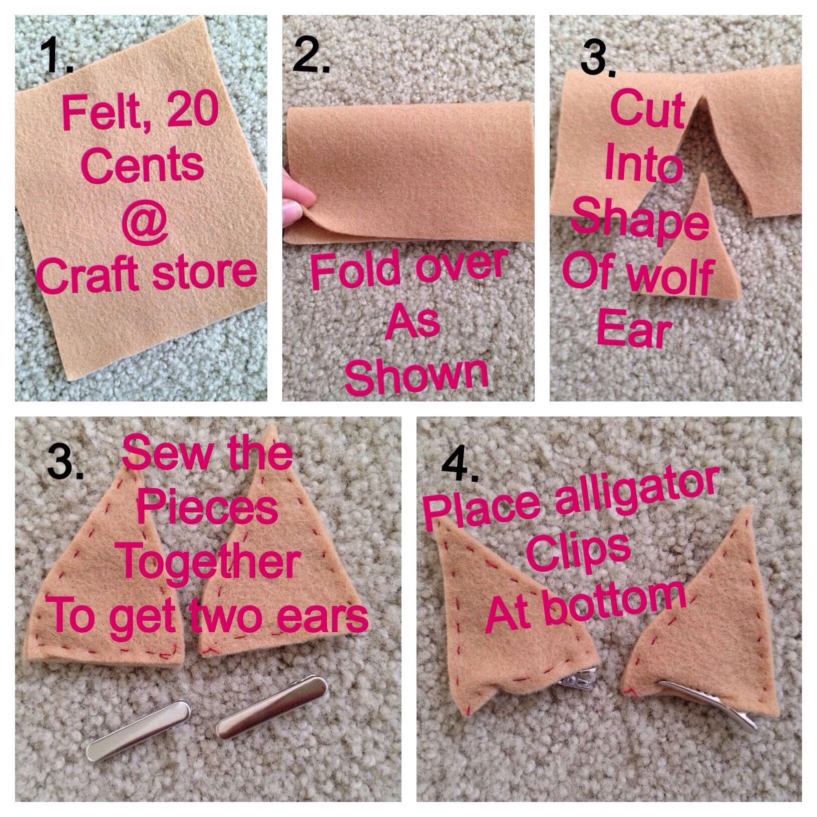 Diy clawdeen wolf ears makeup clawdeen wolf ears solutioingenieria Image collections